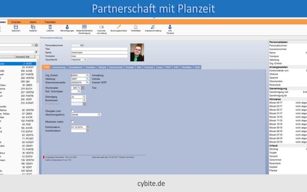 Die Planzeit GmbH u. cybite gehen ab sofort gemeinsame Wege.