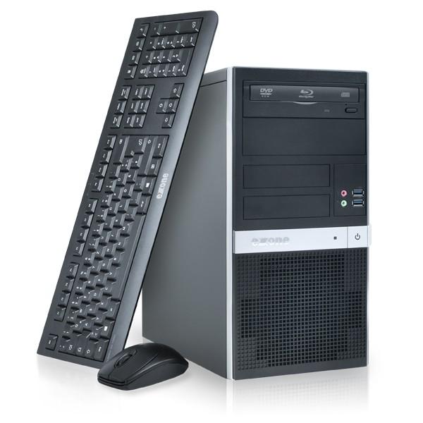 exone Desktop PC mit Tastatur und Maus